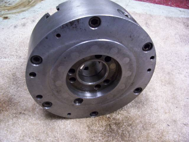 9 POLAND 3-JAW A1-6 SPINDLE MOUNT CHUCK